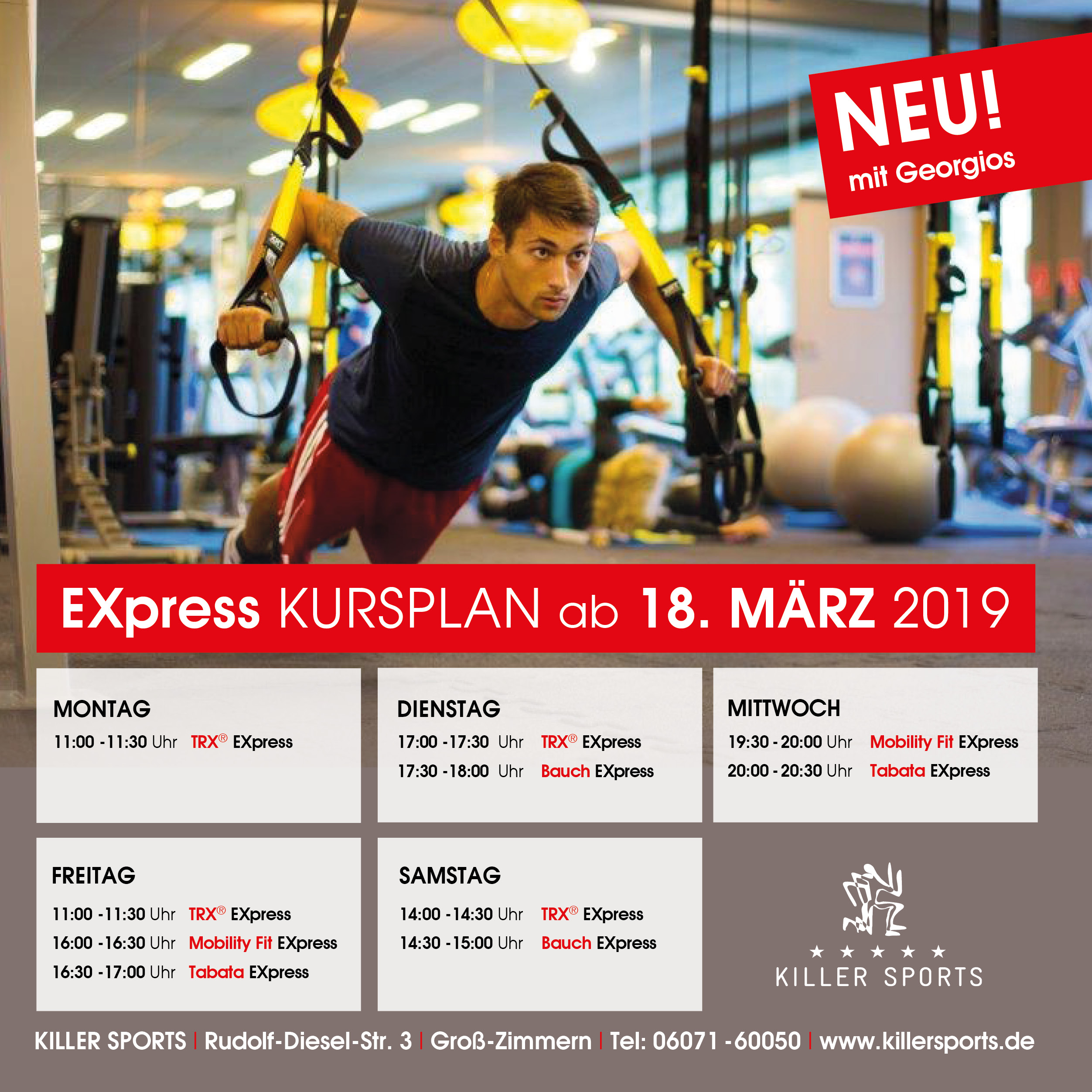 Express Kursplan Killer Sports